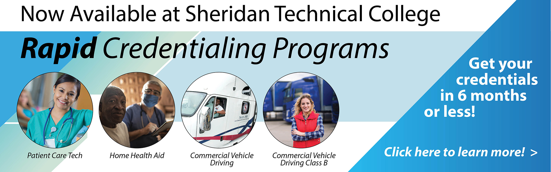 rapid credentialing programs available at sheridan technical college